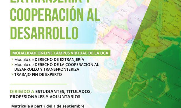 V Experto Universitario en Derecho de Extranjería y Cooperación al Desarrollo