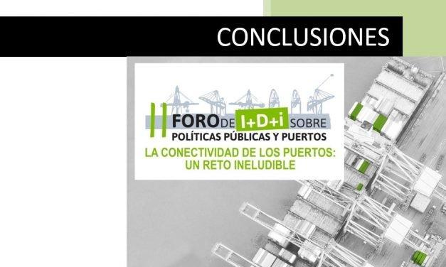 Conclusiones II Foro I+D+i sobre Políticas Públicas y Puertos