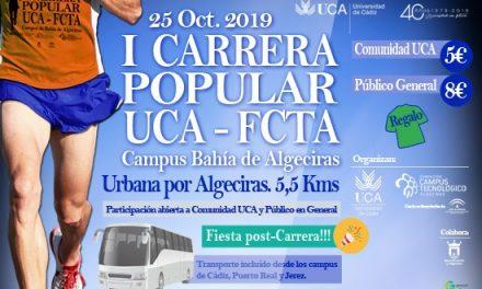 I Carrera Popular UCA-FCTA el 25 de octubre en Algeciras