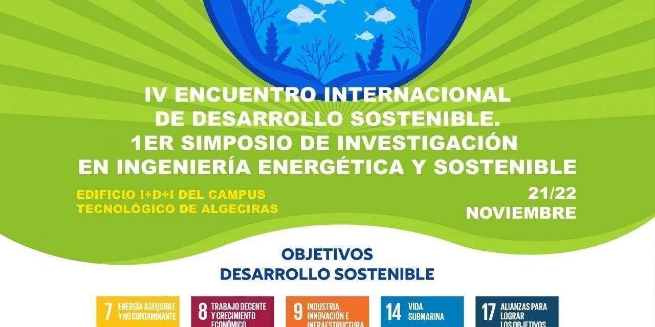 Investigadores y expertos se darán cita los días 21 y 22 de noviembre en el IV Encuentro Internacional sobre Desarrollo Sostenible en Algeciras