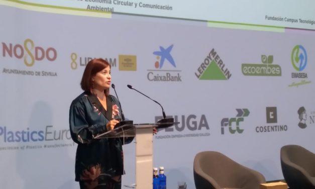 La directora de la Fundación Campus Tecnológico destaca la trayectoria formativa en circularidad de la entidad durante el I Congreso Nacional de Economía Circular